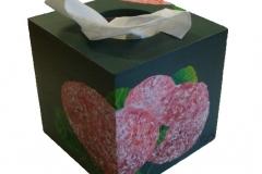 """Taschentuchbox """"Hortensie"""""""